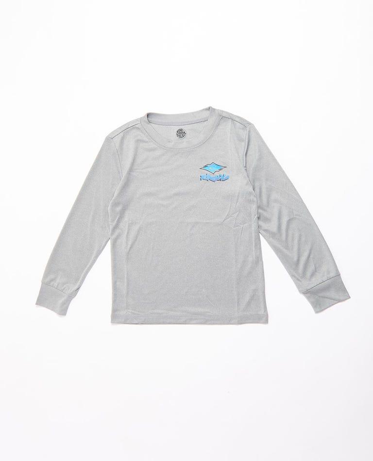 Diamond Fade Long Sleeve UV Tee Rash Vest Boys (0 - 6 years) in Light Grey Marle