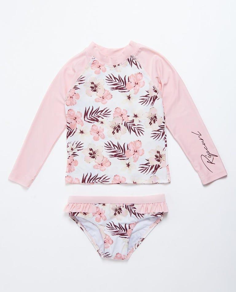 Tropic Long Sleeve UV Swim Set Girls (0 - 6 years) in Pink