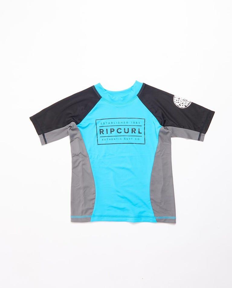 Driven Box Short Sleeve UV Tee Rash Vest Boys (0 - 6 years) in Blue