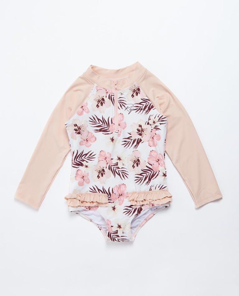 Tropic Long Sleeve Surf Suit Girls (0 - 6 years) in Pink
