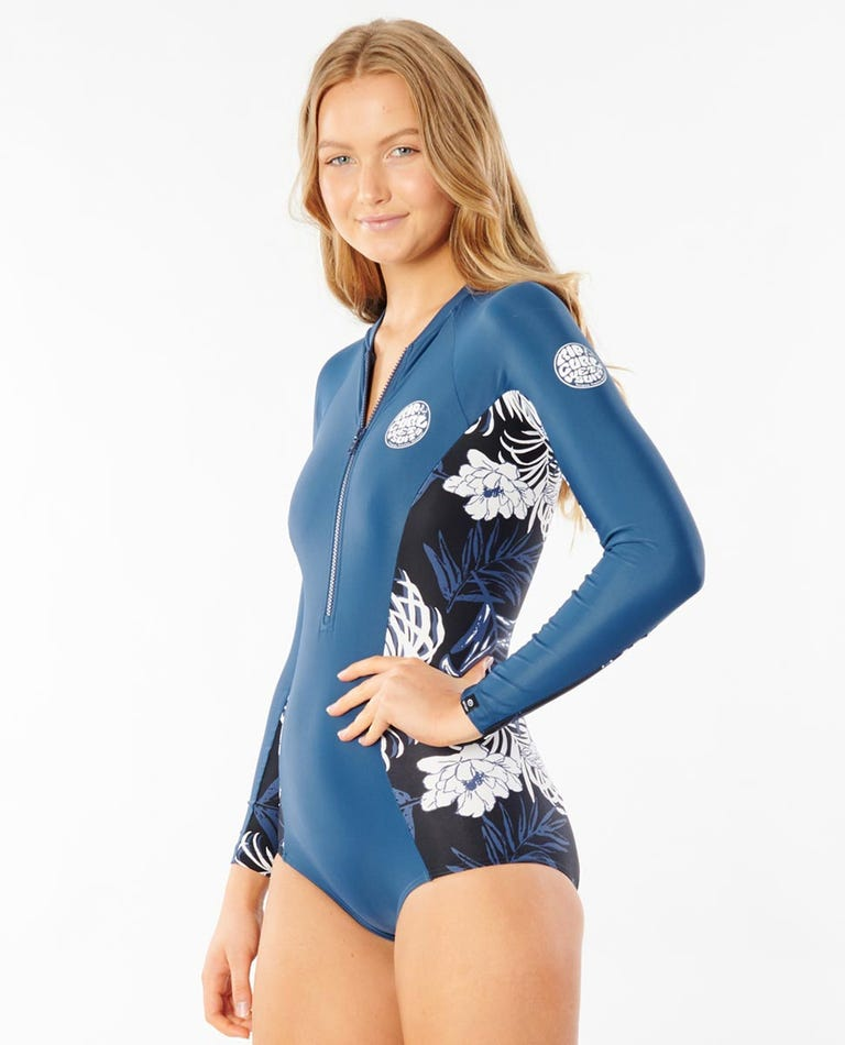 G-Bomb Long Sleeve UV Surf Suit in Navy