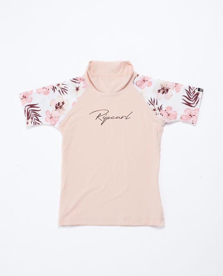 Tropic Short Sleeve UV Tee Rash Vest Girls (0 - 6 years) in Pink