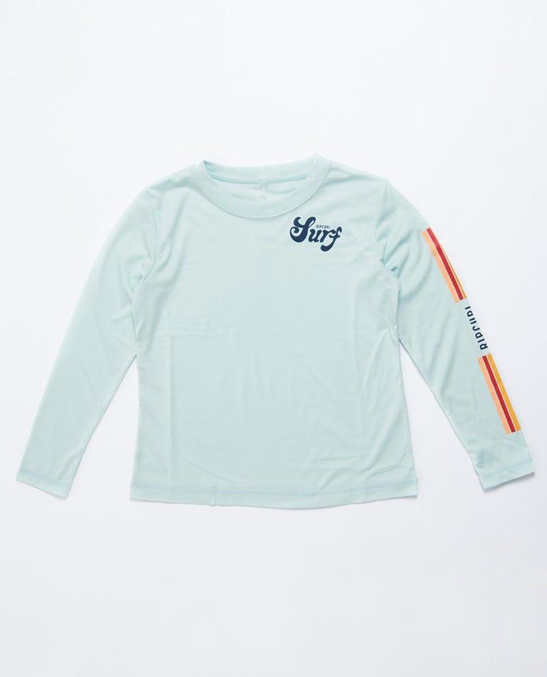 Retro Long Sleeve Surflite UV Tee Rash Vest Girls (0 - 6 years) in Blue
