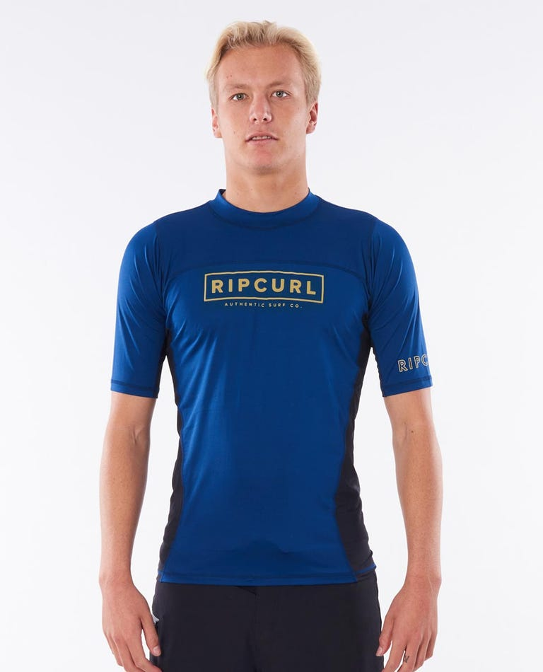 Drive Relaxed Short Sleeve UV Tee Rash Vest in Navy