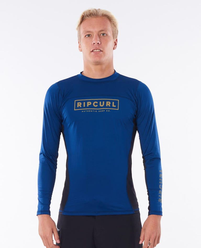 Drive Relaxed Long Sleeve UV Tee Rash Vest in Navy