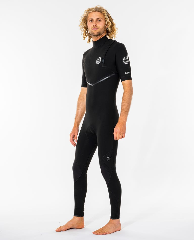 Mens E-Bomb Zip Free 2/2 GB Sealed Short Sleeve Wetsuit in Black