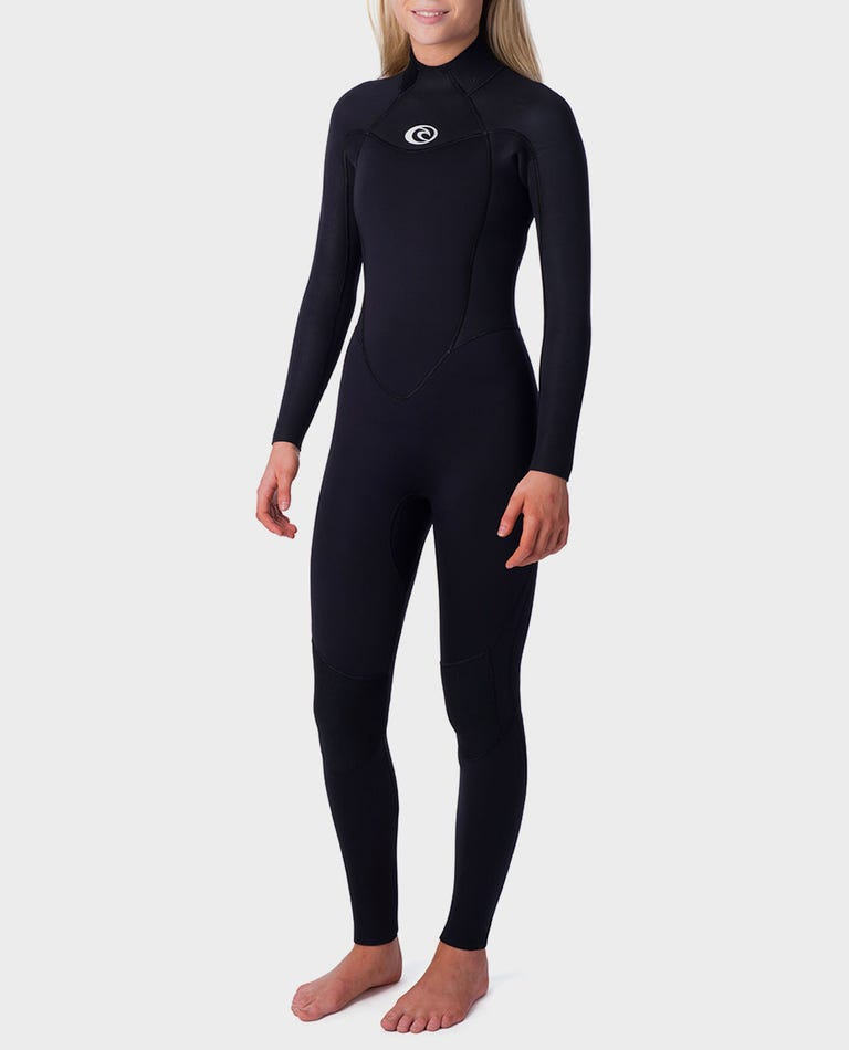 Womens Omega 3/2 Wetsuit in Black