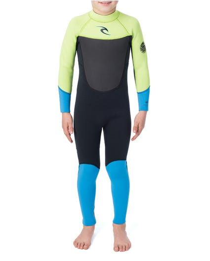 Kids Dawn Patrol 3/2 Wetsuit in Lime