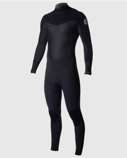 Dawn Patrol 3/2 Back Zip Wetsuit in Black