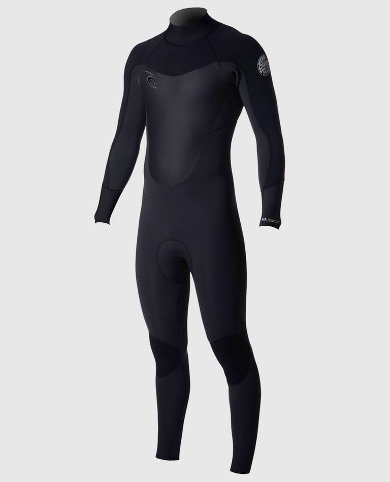 Dawn Patrol 4/3 Back Zip Wetsuit in Black