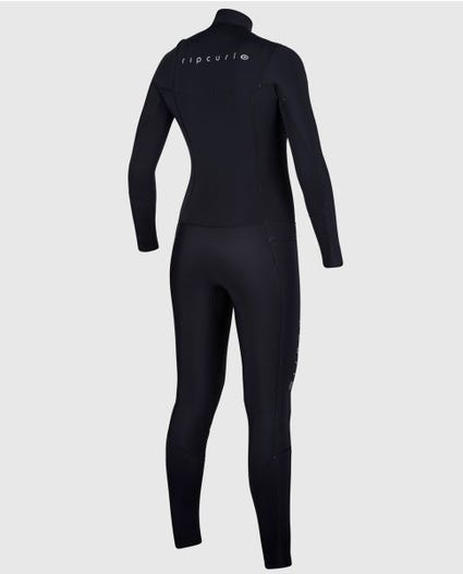 Womens Dawn Patrol 5/3 Chest Zip Wetsuit in Black