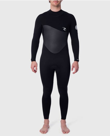 Omega 4/3 Back Zip Wetsuit in Black