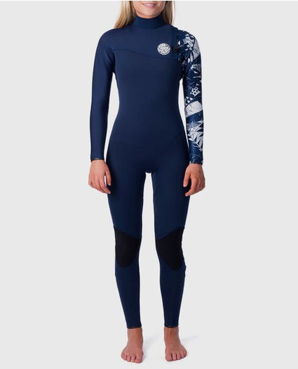 G-Bomb 3/2 Zip Free Wetsuit in Black / White