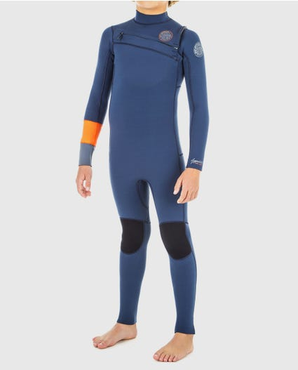 Youth Aggrolite 4/3 Chest Zip Wetsuit in Black