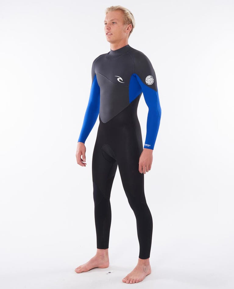 Omega 3/2 Back Zip Wetsuit in Blue