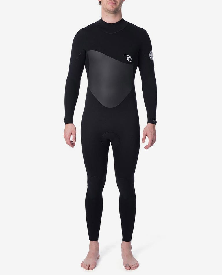 Omega 3/2 Back Zip Wetsuit in Black