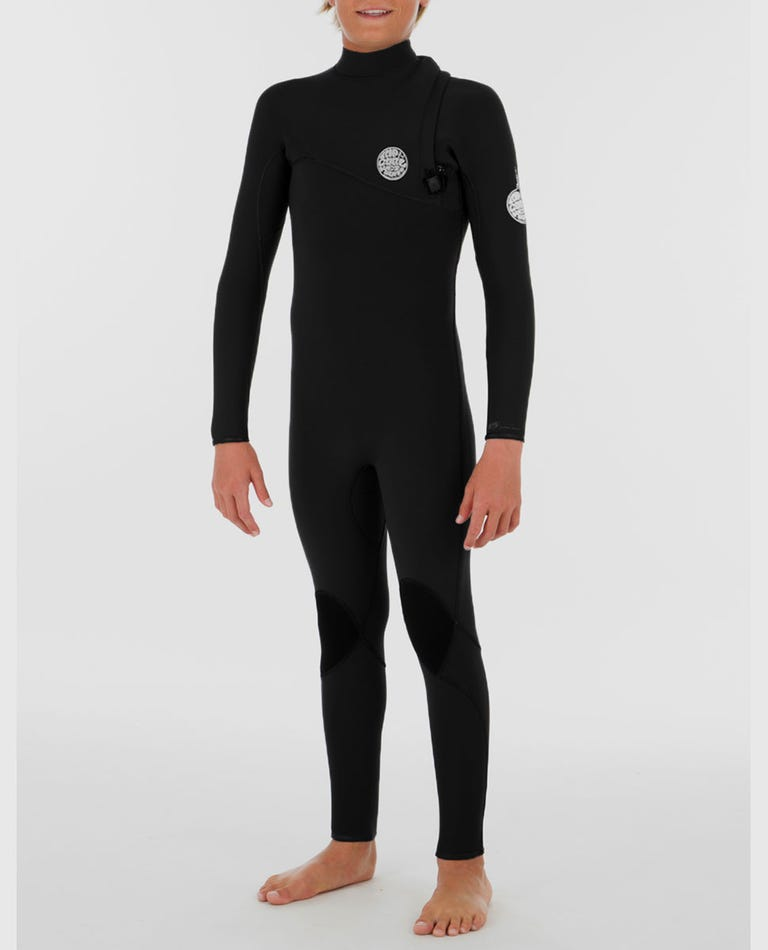 Youth Flashbomb 3/2 Zip Free Wetsuit in Black