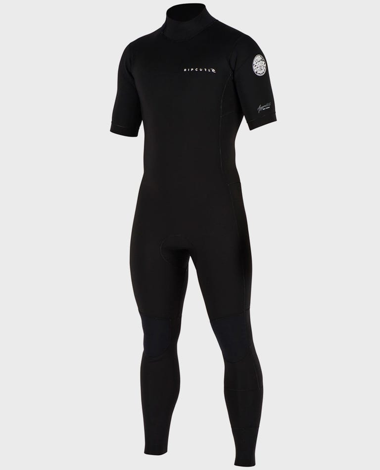 Aggrolite S/S Full Back Zip Wetsuit in Black