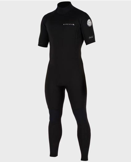 Aggrolite S/S Full Back Zip Wetsuit in Black