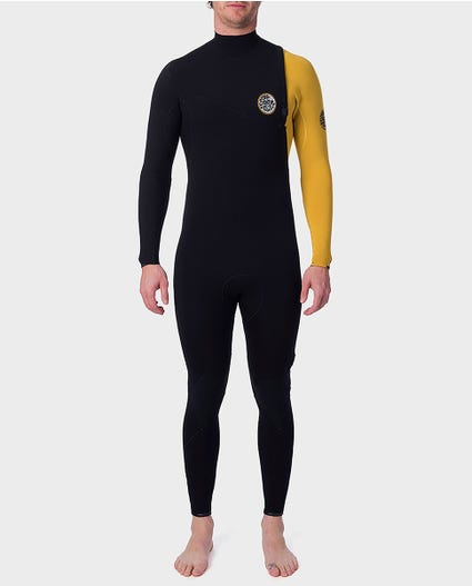 E-Bomb 4/3 Zip Free Wetsuit in Yellow
