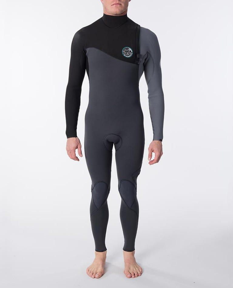 E-Bomb 3/2 Zip Free Wetsuit in Grey