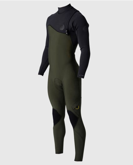 Flashbomb 3/2 Zip Free Wetsuit in Black/Green