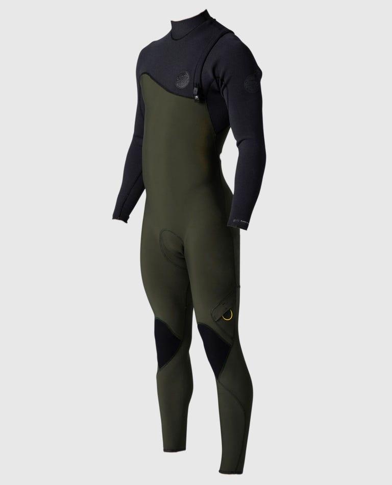 Flashbomb 3/2 Zip Free Wetsuit in Black/Green