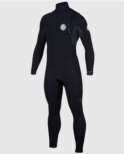 Flashbomb 4/3 Zip Free Wetsuit in Black/Grey