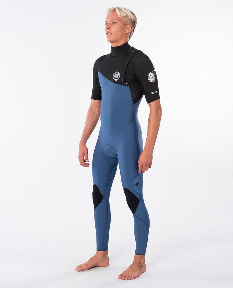 E-Bomb S/S Full Zip Free Wetsuit in Black/Blue