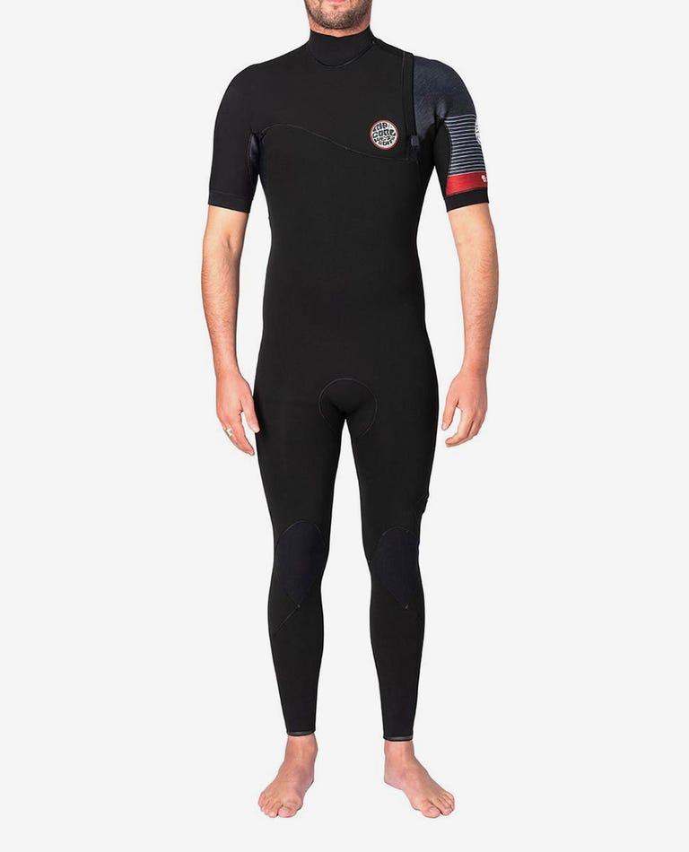 E-Bomb S/S Full Zip Free Wetsuit in Black/Red