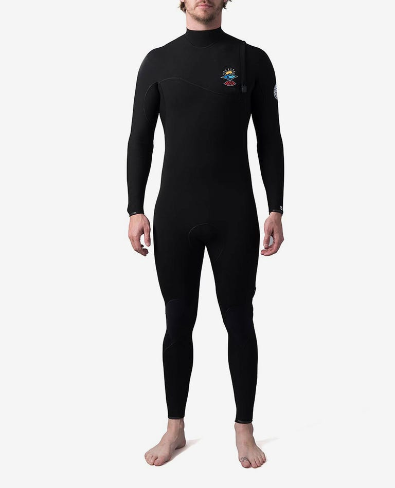 Searchers E-Bomb 3/2 Zip Free Fullsuit Wetsuit in Black
