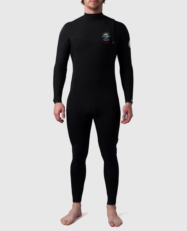 Searchers E-Bomb 3/2 Zip Free Fullsuit Wetsuit in Black