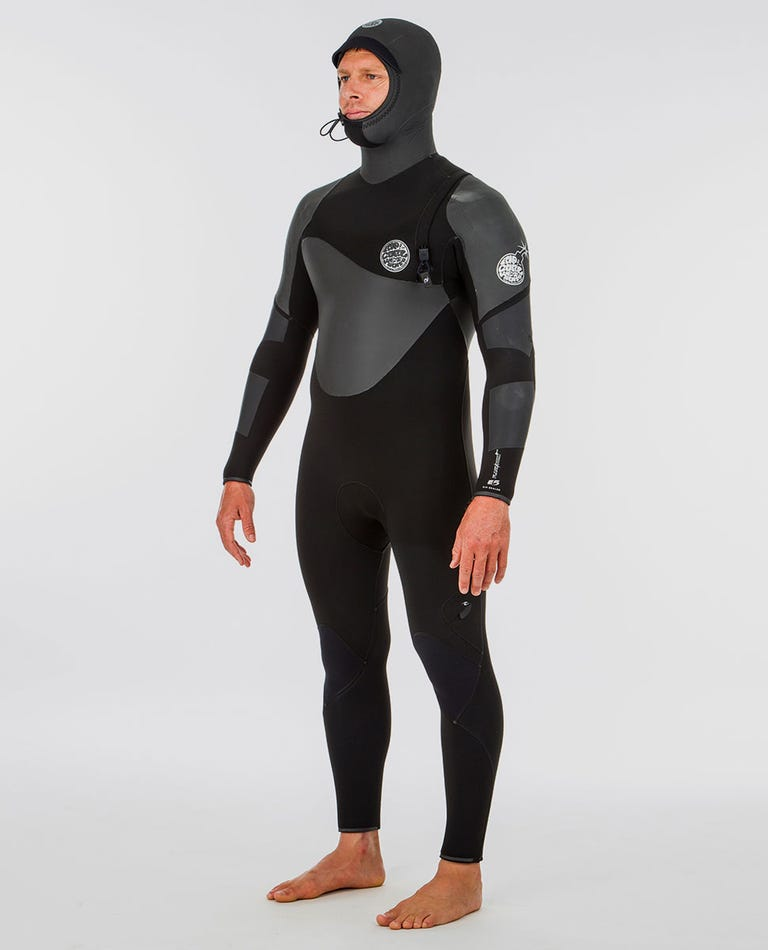 Flashbomb 6/4 Hooded Wetsuit in Black