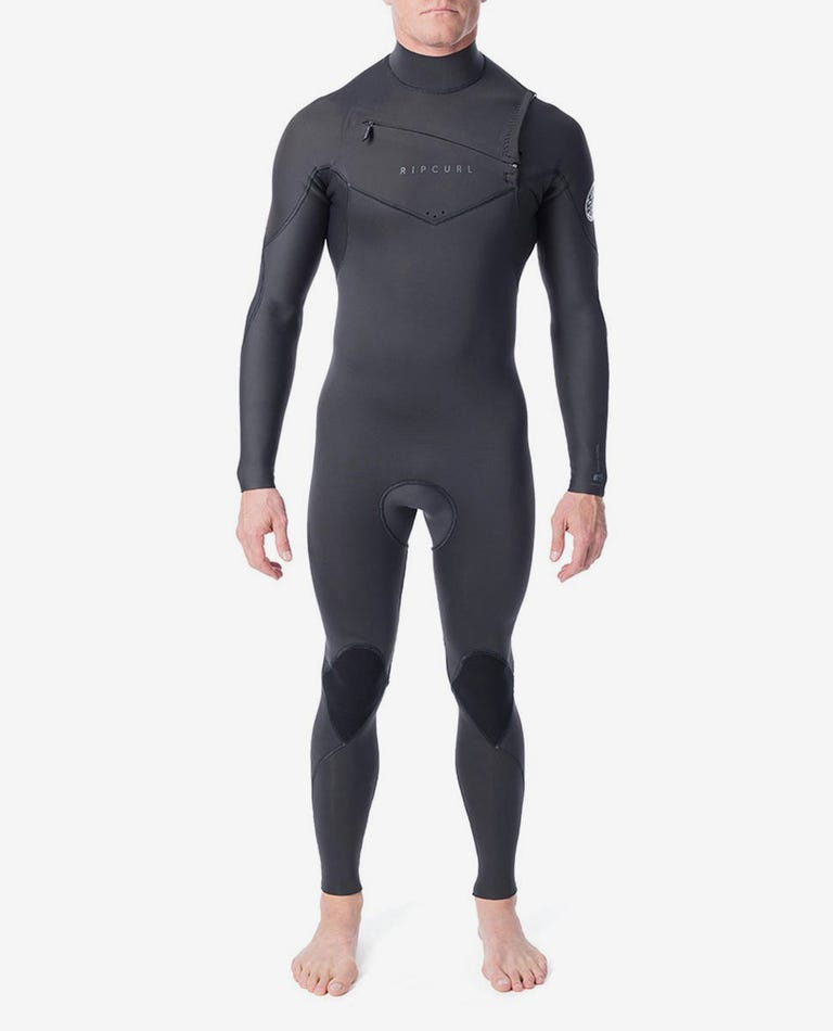 Dawn Patrol 3/2mm Chest Zip Wetsuit Steamer in Charcoal Grey