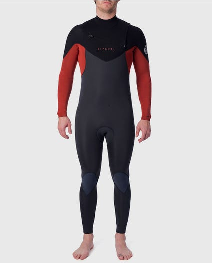 Dawn Patrol 3/2mm Chest Zip Wetsuit Steamer in Black