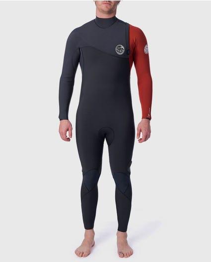 Flashbomb 3/2 Zip Free Wetsuit in Black