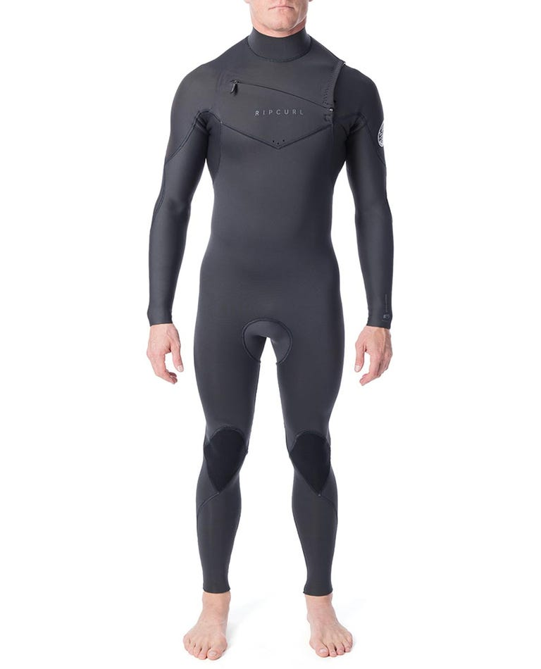 Dawn Patrol 4/3mm Chest Zip Wetsuit Steamer in Charcoal Grey