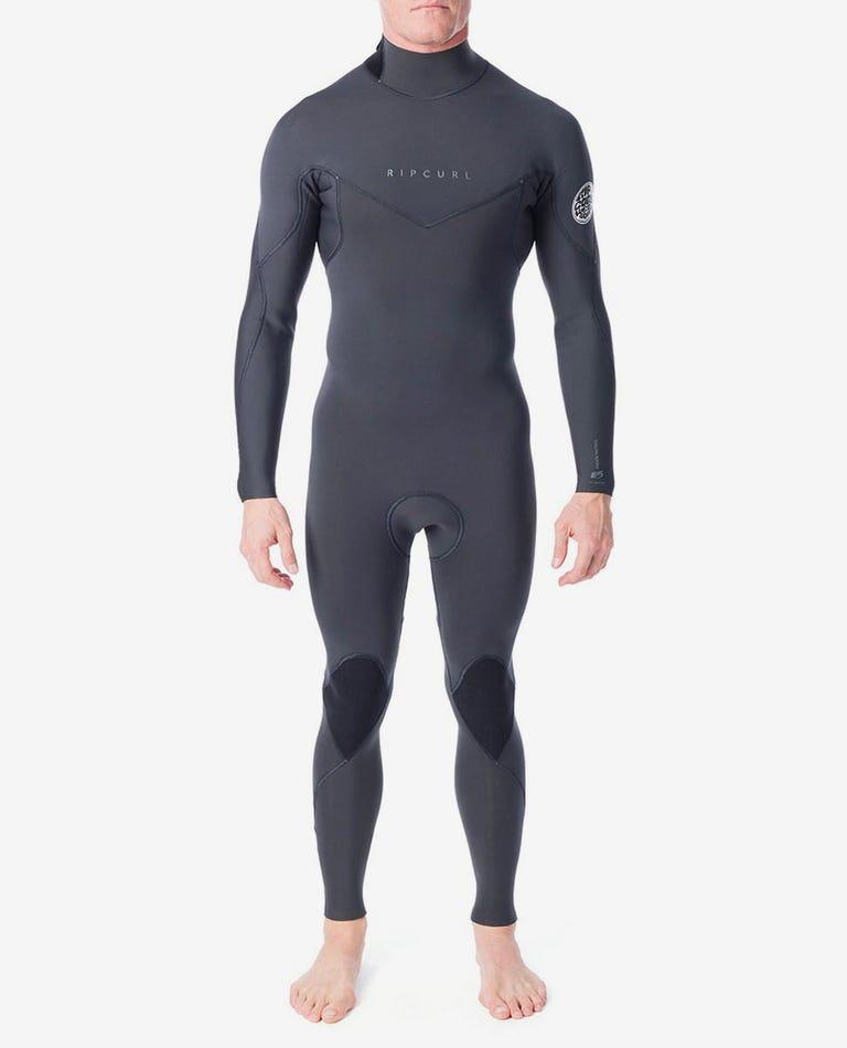 Dawn Patrol 3/2 Back Zip Wetsuit in Charcoal Grey