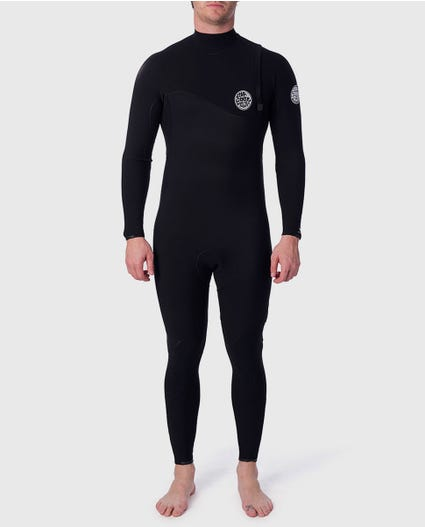 Flashbomb 4/3 Zip Free Wetsuit in Black