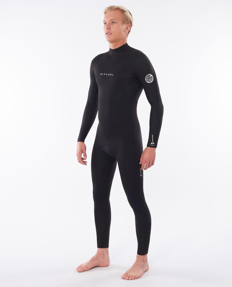 Dawn Patrol 4/3 Back Zip Wetsuit in Black
