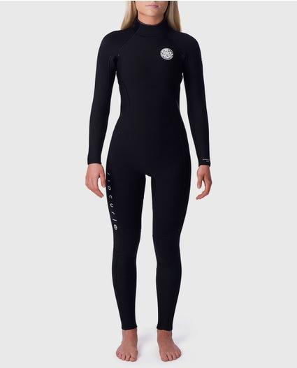 Womens Dawn Patrol 5/3 Back Zip Wetsuit in Black