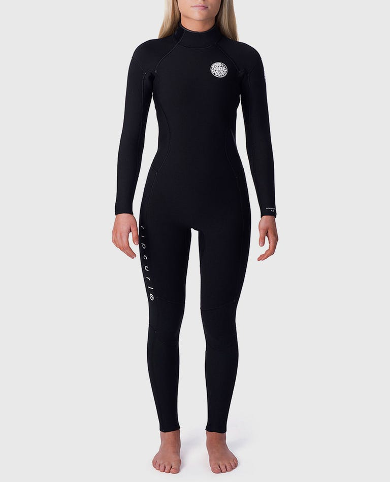 Womens Dawn Patrol 5/3 Back Zip Wetsuit in Black