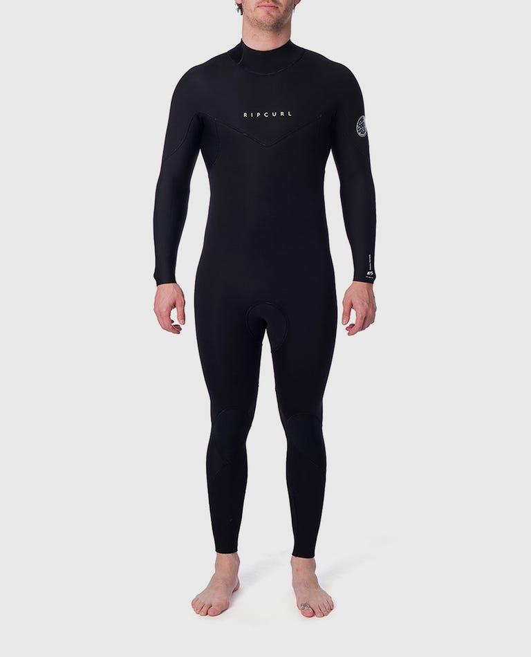 Dawn Patrol 5/3 Back Zip Wetsuit in Black