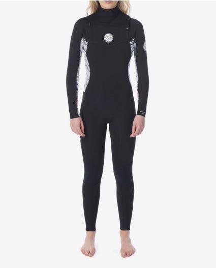 Womens Dawn Patrol 3/2 Chest Zip Wetsuit in Navy