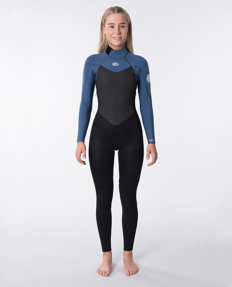Omega 3/2mm Back Zip Long Sleeve Wetsuit Steamer in Blue