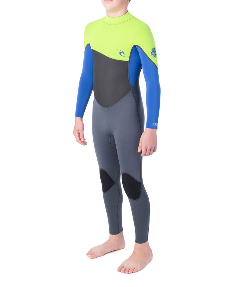 Junior Omega 3/2 Wetsuit in Lime