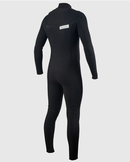 Aggrolite 3/2 Chest Zip Wetsuit in Black