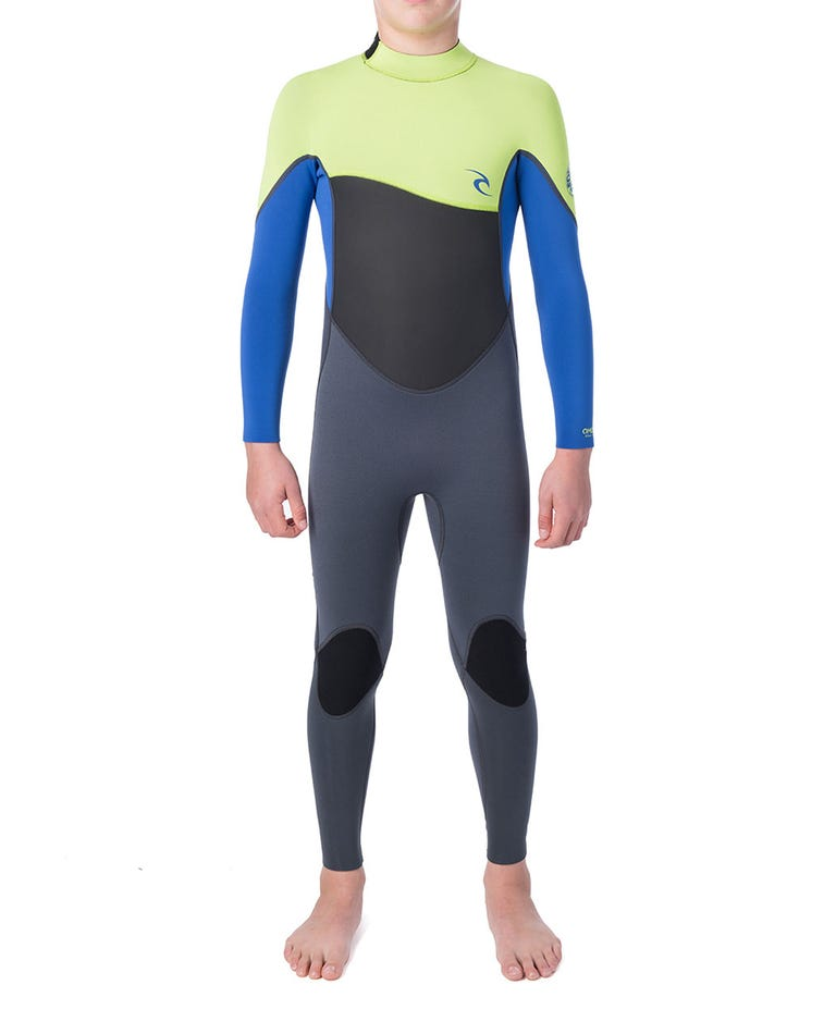 Junior Omega 4/3 Wetsuit in Lime