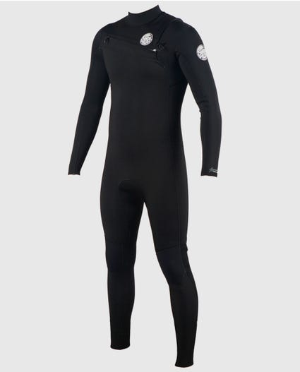 Aggrolite 4/3 Chest Zip Wetsuit in Black