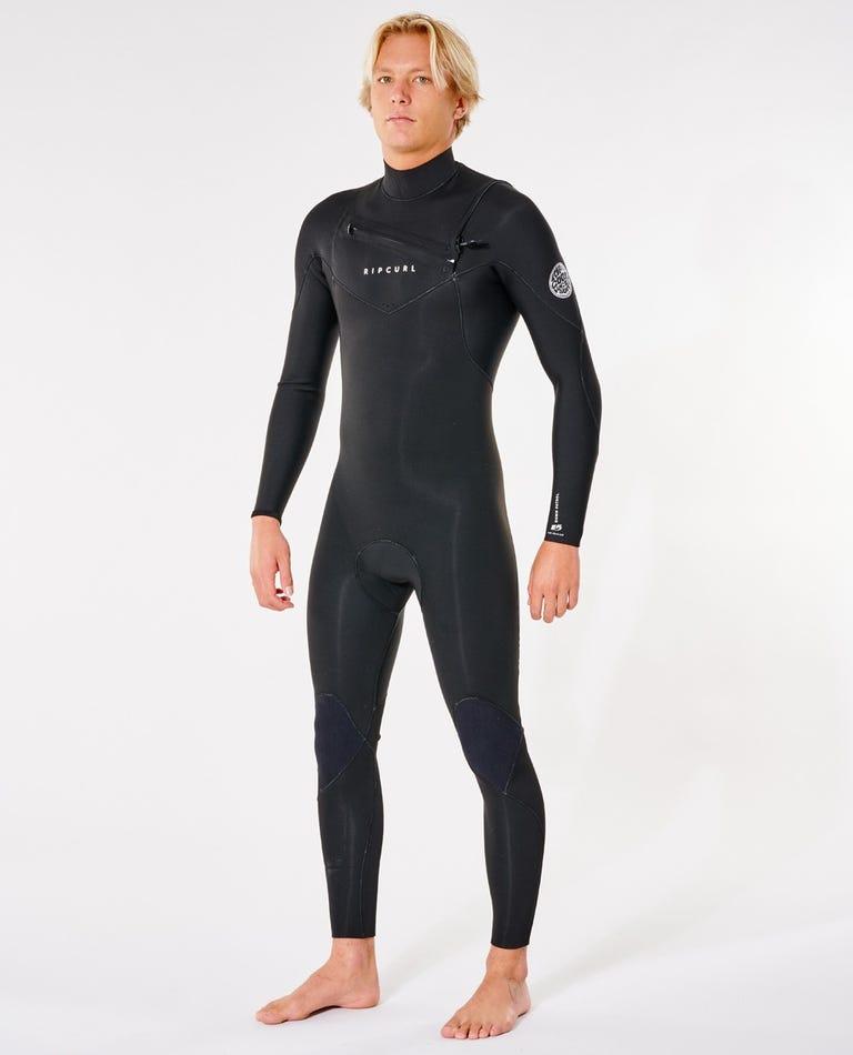 Dawn Patrol Performance 3/2 Chest Zip Wetsuit in Black
